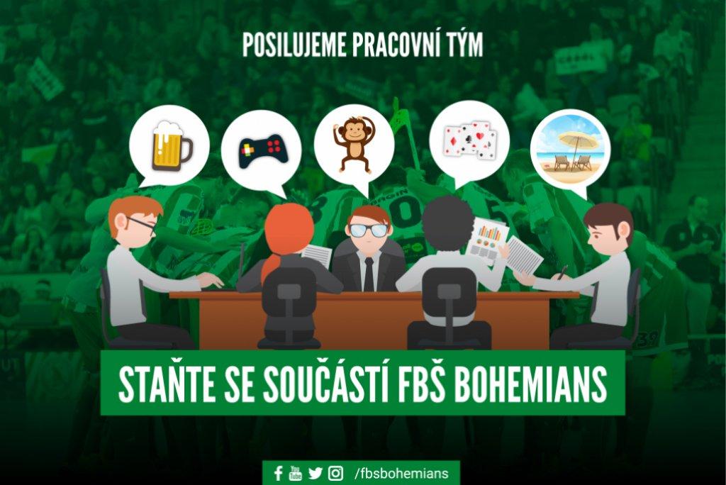 Hledáme posilu do marketingového týmu FbŠ Bohemians - UZAVŘENO